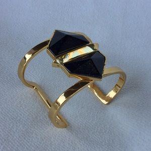Vince Camuto Gold Black Cuff Bracelet